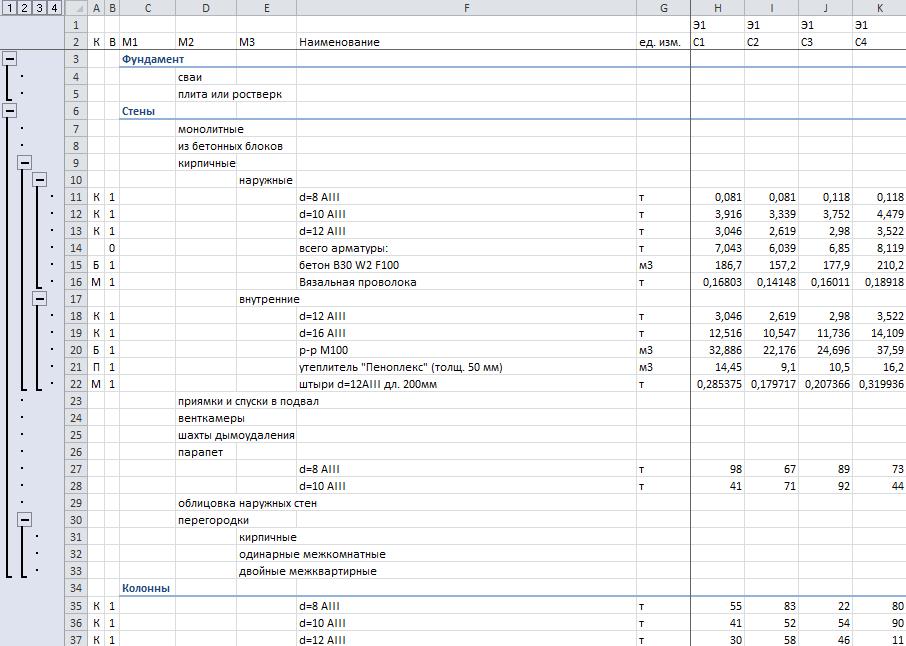 заявка на материалы образец Excel - фото 2