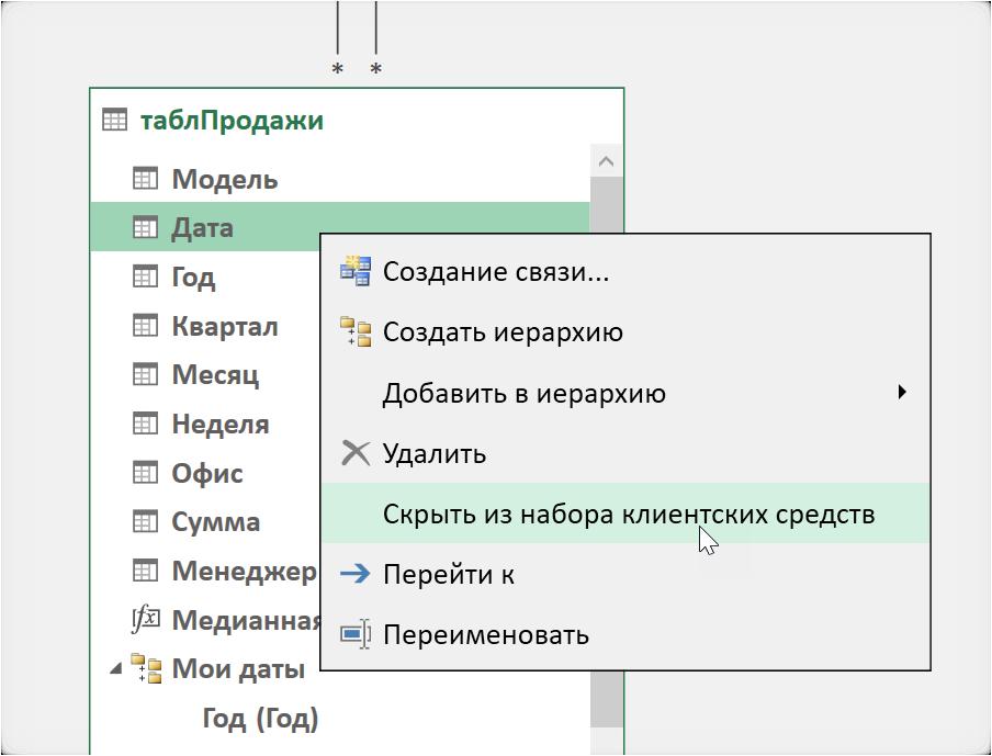 Скрываем поле или таблицу от пользователя