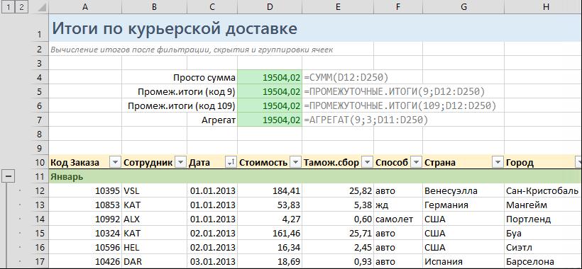 Фильтрация данных