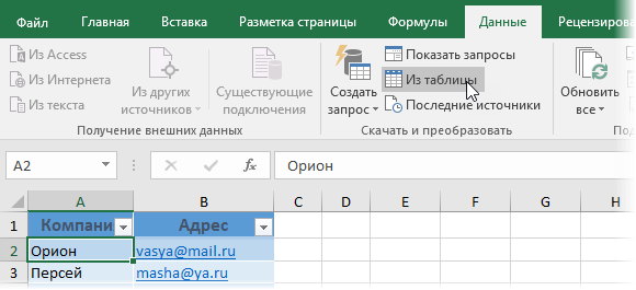 Загрузка в Power Query