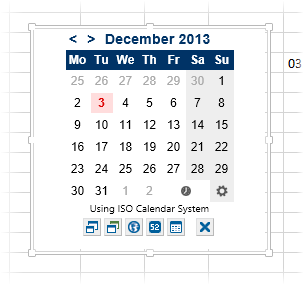 Всплывающий календарь